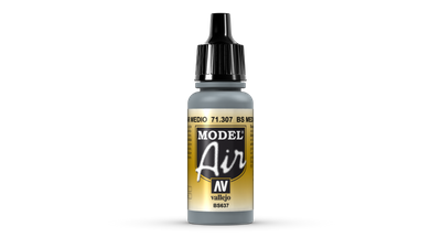 Vallejo | Model Air | 17ml | BS Medium Sea Grey