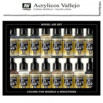 Vallejo Model Air | 16er Set | WWII German Colors Europe & Afrika