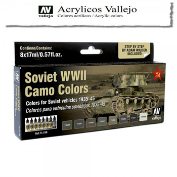 Vallejo | 8er Set | Soviet WWII Camo Colors 1935-1945