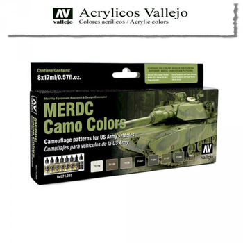 Vallejo | 8er Set | MERDC Camo Colors