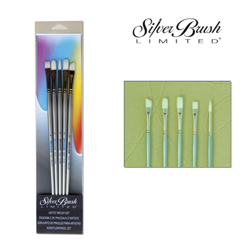 Silverwhite | 5pcs Acryl Brush Set | Long Handle – Bild 1