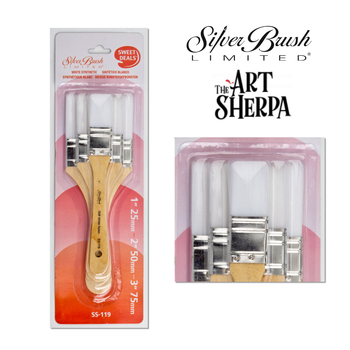 The Art Sherpa | Stiff White Synthetic