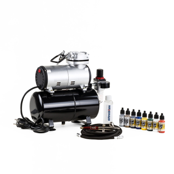 INFINITY Airbrush, Airbrushcompressor 186 in a  Modelling Airbrush Set – Bild 1