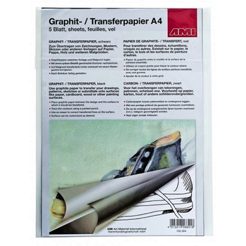Graphitpapier Color A4 | 5 Blatt – Bild 3