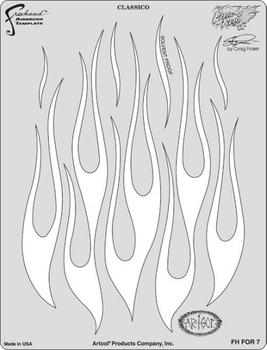 Artool | Mini Schablonen Set | Flame-o-Rama 2 – Bild 3