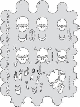 Artool | Mini Schablonen Set |  Skullmaster – Bild 3