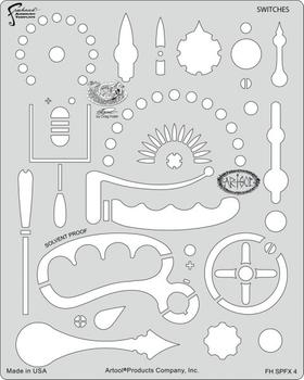 Artool | Mini Schablonen Set | Steampunk FX – Bild 4