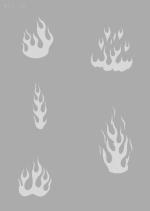 Createx Stencil | Mylar Universal | Flame I