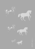 Createx Stencil | Mylar Universal | Pferde trabend