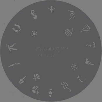 Createx Nail Art Stencil | aquatic animals