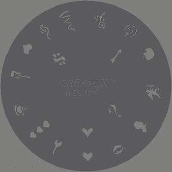 Createx Nail Art Stencil | Romantic