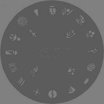 Createx Nail Art Stencil | Mixed Motive 2