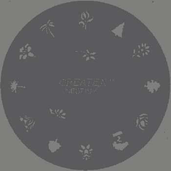 Createx Nail Art Stencil | Trees, Plants