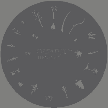 Createx Nail Art Stencil | Trees, Plants 2