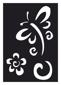 Tattoo Stencil | Self-Adhesive  | Libelle & Flower
