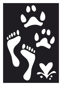 Tattoo Stencil | Self-Adhesive | Footprint