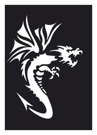 Tattoo Stencil | Self-Adhesive | Dragon 2