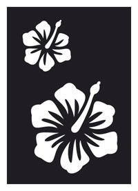 Tattoo Stencil | Self-Adhesive | Hibiscus