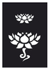 Tattoo Schablone   selbstklebend   Lotus