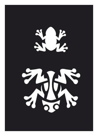 Tattoo Stencil | Self-Adhesive | Frog