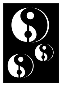 Tattoo Stencil | Self-Adhesive | Yin & Yang