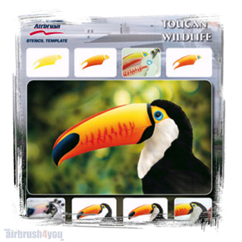 H & S Stencil | Toucan Wildlife
