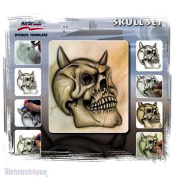 H & S Stencil | Skull Set