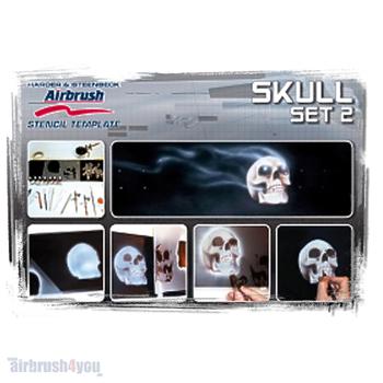 H & S Stencil | Skull 2 Set