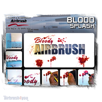H & S Stencil | Blood Splash