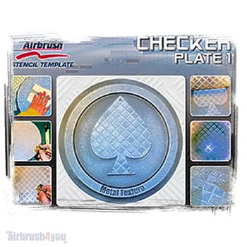 H & S Stencil | Checker Plate 1