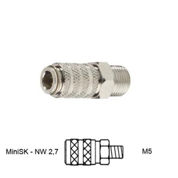 Quick coupling nd 2,7mm | male thread – Bild 4