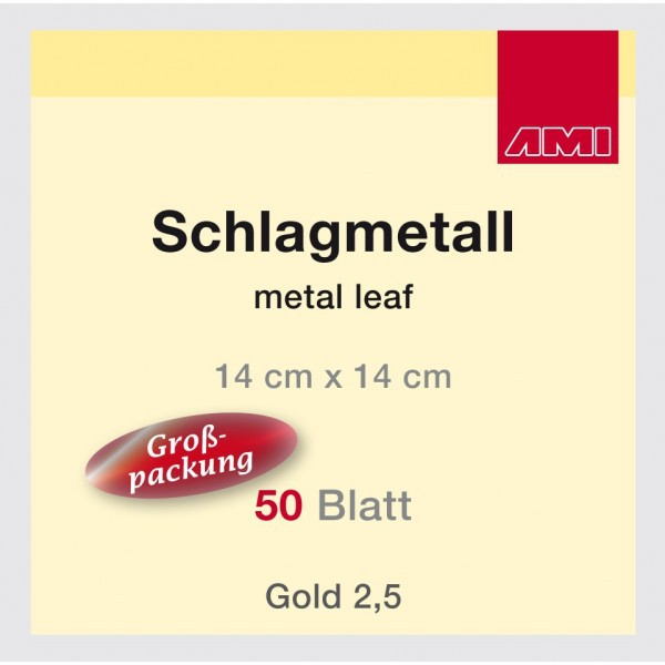 schlagmetallheft 14 x14 cm 50 blatt gro pack gold 2 5. Black Bedroom Furniture Sets. Home Design Ideas