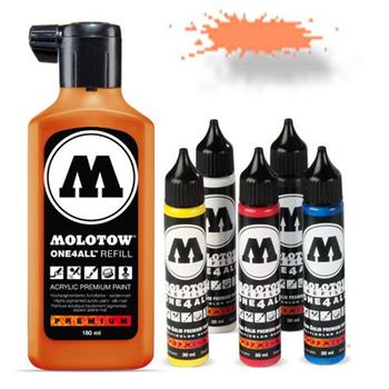 Molotow | One 4 All | 180ml | Neon Orange fluorescent – Bild 1