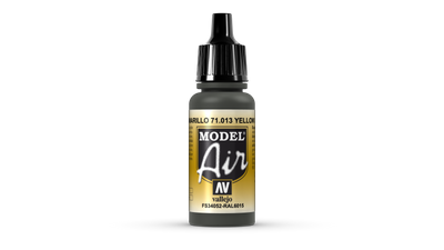 Vallejo Model Air | 17ml | 013 | Yellow Olive – Bild 1
