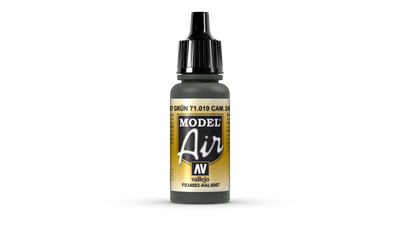 Vallejo Model Air | 17ml | 019 | Camouflage Dark Green – Bild 1