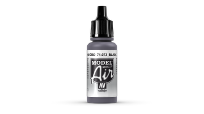 Vallejo Model Air | 17ml | 073 | Black Metal – Bild 1