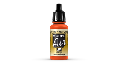 Vallejo Model Air | 17ml | 082 | Fluorescent Red – Bild 1