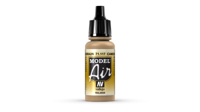 Vallejo Model Air | 17ml | Camouflage Brown – Bild 1