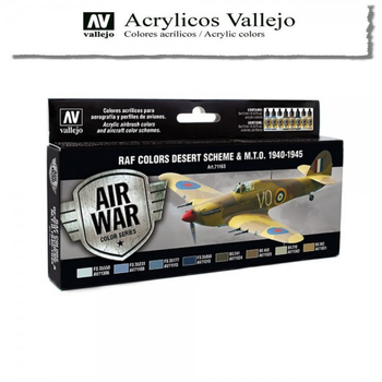 Vallejo | Air War | RAF Colors Desert Scheme & M.T.O. 1940-1945