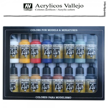 Vallejo Model Air | 16er Set | Basic