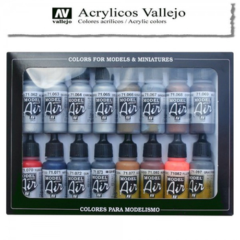 Vallejo Model Air | 16er Set | Metallic