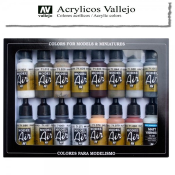 Vallejo Model Air | 16er Set | Weathering