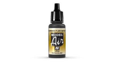 Vallejo | Model Air | 17ml | Nato Black