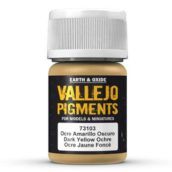 Vallejo | 30ml PIGMENT | Dark Yellow Ocre – Bild 1