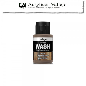Vallejo | 35ml Model Wash | 521 Tierra Engrasada