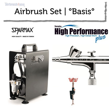 Airbrush Set | °Base° | Iwata HP-B plus – Bild 1