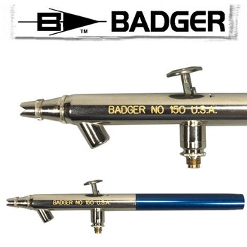 Badger 150 Set | wooden box | nozzle F/M/L with equipment – Bild 2
