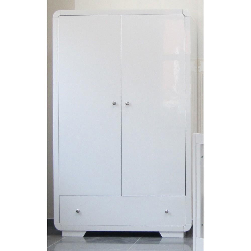 Kleiderschrank weiß hochglanz 2 türig  Kleiderschrank 2-türig Yves Hochglanz in weiß Baby Möbel Kleiderschränke