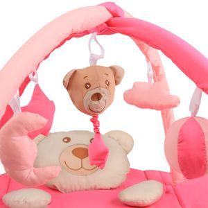 Sleeping Bear Erlebnisdecke / Nestchen mit Spielbogen - 3 in 1 in der Farbe Rosa – Bild 6