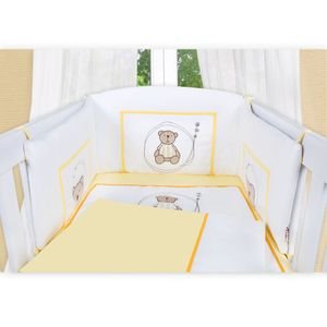 5-tlg. Babybettset Little Bear in Gelb – Bild 3